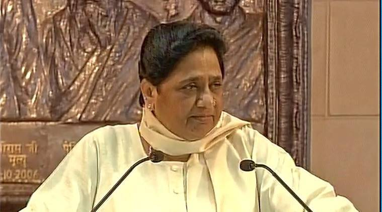 Mayawati, Mayawati slams BJP, Mayawati on RSS, Yeddyurappa, Dalits, Mayawati on Dalits, indian express news