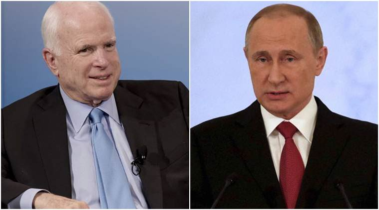 Us Senator John Mccain Says Vladimir Putin Bigger Threat Than Isis World News The Indian Express