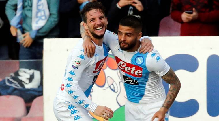 napoli, napoli football, dries mertens, mertens, napoli vs cagliari, italian football, italy football, serie a, football news, football, indian express