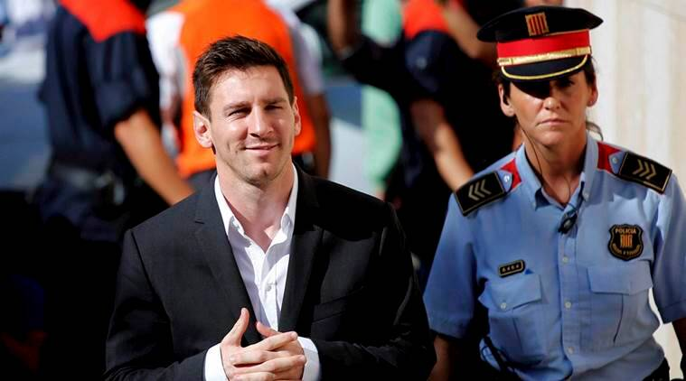 lionel messi, messi jail term, messi 21 month jail, barcelona, barca, argentina, spanish law, football, sports news, indian express