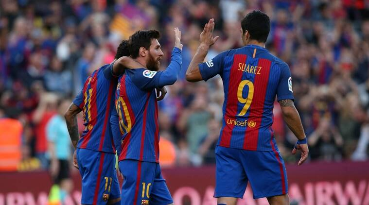 barcelona, messi, neymar, suarez, lionel messi, luis suarez, barcelona vs villlareal, la liga table, la liga, football news, sports news, indian express
