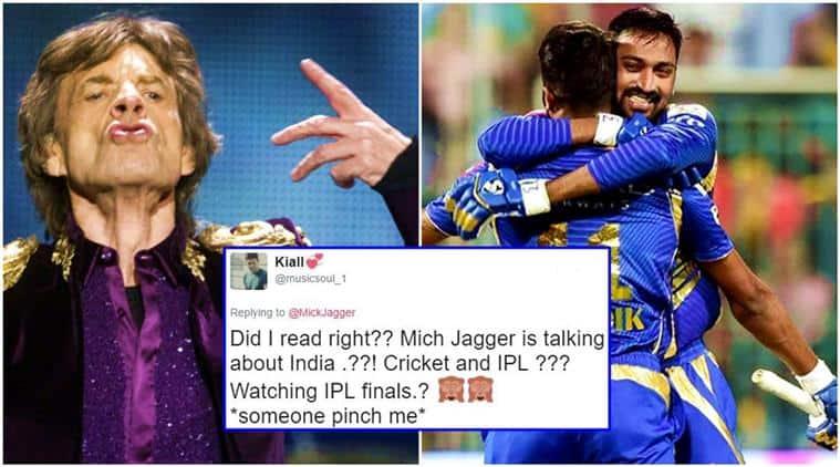 IPL 2017, Mick Jagger IPL, Mick Jagger IPL tweet, mumbai indians win, mumbai pune finale, mumbai indians vs rising pune supergiant, mick jagger ipl tweet, mick jagger ipl finale, IPL 2017 final, indian express, indian express news