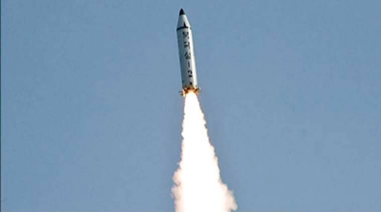 north korea, missile launch, japan sea, ballistic missile, kim jong un, shinzo abe, japan pm, indian express