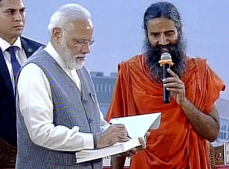 narendra Modi, Modi, PM Modi haridwar, PM Modi live, PM Modi haridwar live, Modi haridwar, Modi patanjali, Patanjali yogpeeth, patanjali haridwar, Ramdev, baba ramdev, PM Modi baba ramdev, Modi Live, Modi uttarakhand, Modi news, india news, indian epxress news