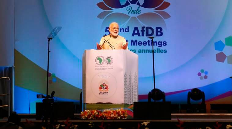 Modi, Africa, African Development Bank
