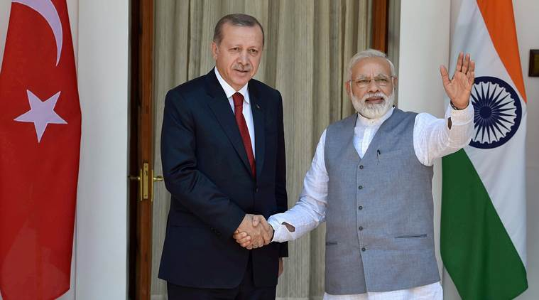 Erdogan, Turkey president Erdogan, Recep Tayyip Erdogan, Turkey-India, Erdogan-India-Pakistan, Erdogan-Kashmir, india-pakistan relations, india news, world news, indian express