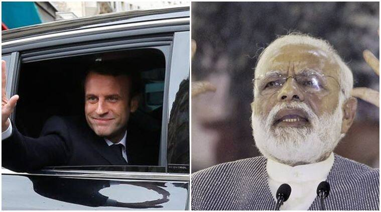emmanuel macron, french elections, elections France, modi, pm modi, modi emmanuel macron, macron france president, french presidential election, Marine Le Pen, france news, world news, france elections, france president elections, indian express