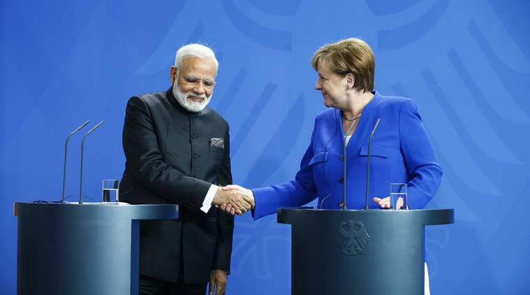 pm modi, angela merkel, world news, indian express news