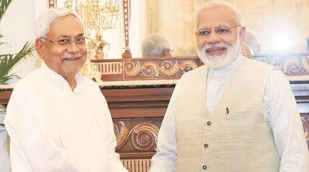 Nitish Kumar attends PM Modi's lunch, says it's about Bihar