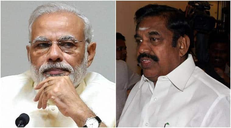 Panneerselvam, Palaniswami, OPS, narendra Modi, Palaniswamy meets Pm Modi, AIADMK, Tamil nadu, india news, indian express news