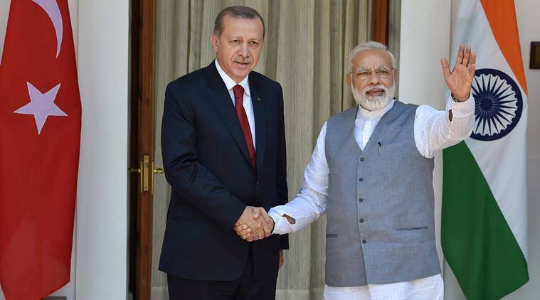 Image result for Erdogan in india