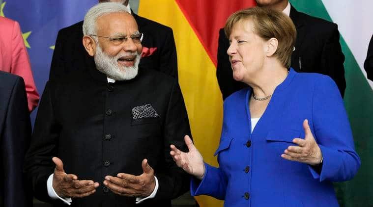Narendra Modi, Angela Merkel, Germany, modi germany visit, India-germany, IGC, German army, india news, indian express news