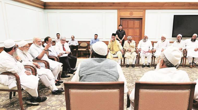 Narendra Modi, Modi Muslims, Triple Talaq, Modi Muslim delegation, PMO Muslims, Jamiat Ulama-i-Hind, India news, Indian Express