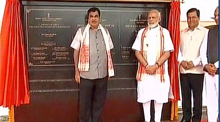 Modi, PM Modi, Modi in Assam, BJP, Dhola-Sadiya bridge, India's longest bridge, Brahmaputra, assam-arunachal pradesh, north east,  Sarbananda Sonwal, india news, indian express