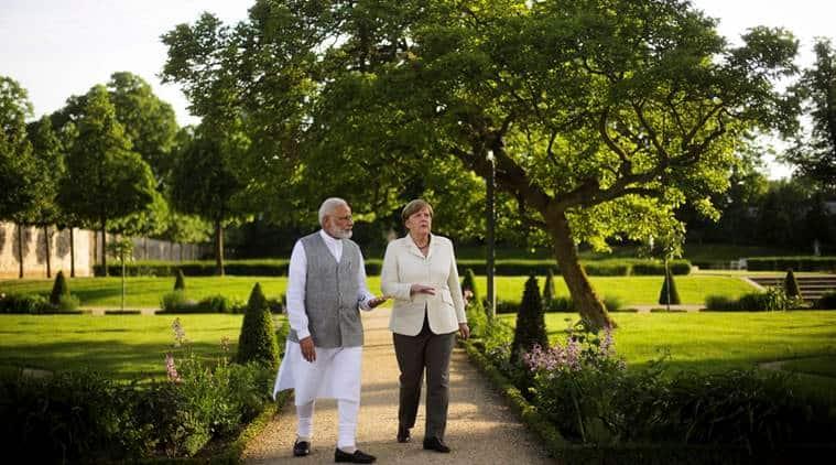 PM Narendra Modi, Angela Merkel, India-Germany, Modi-Merkel meeting, Brexit, India-European Union, terrorism, China-One Belt One Road initiative, indian express