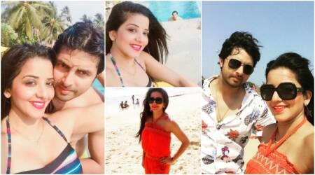 Nach Baliye 8: Evicted couple Mona Lisa and Vikrant Singh's Goa honeymoon is making other participants jealous. See pics,videos