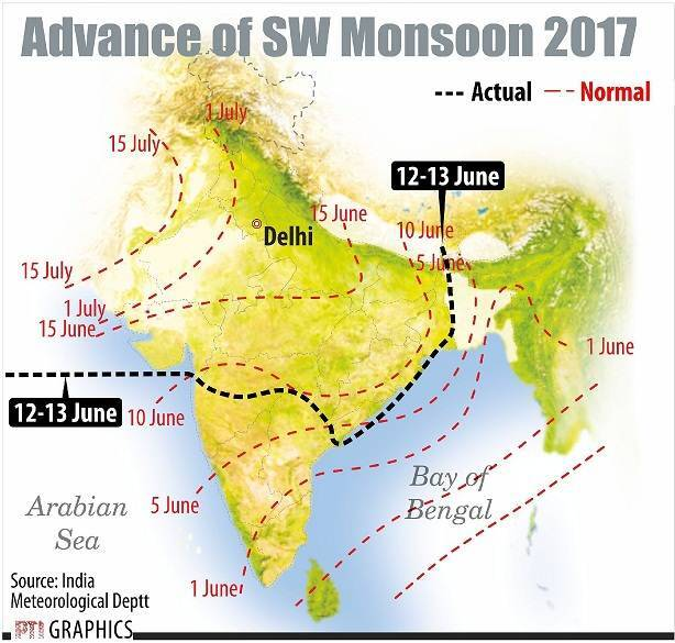 Monsoon Map