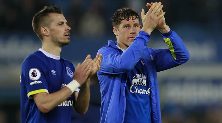 Morgan Schneiderlin, Morgan Schneiderlin Everton, Everton Morgan Schneiderlin, Morgan Schneiderlin news, Morgan Schneiderlin matches, Morgan Schneiderlin goals, Everton vs Arsenal, sports news, sports, football news, Football, Indian Express
