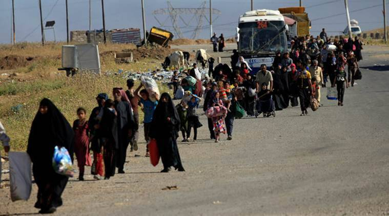 Mosul, Islamic State, ISIS Mosul, ISIS bombs in Mosul, ISIS prevents people from leaving Mosul, ISIS Syria, World news, Indian Express