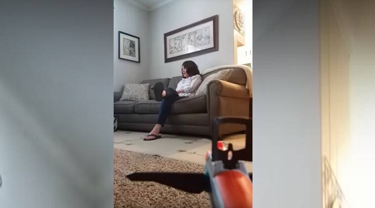 WATCH: Son fires toy gun at his mother, but her reaction