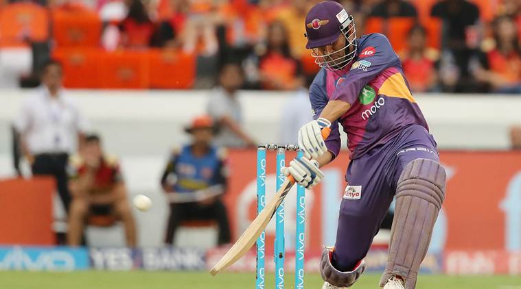 IPL 2017, IPL 2017 news, IPL 2017 updates, MS Dhoni, MS Dhoni batting, MS Dhoni sixes, MS Dhoni RPS, RPS vs SRH, sports news, sports, cricket news, Cricket, Indian Express