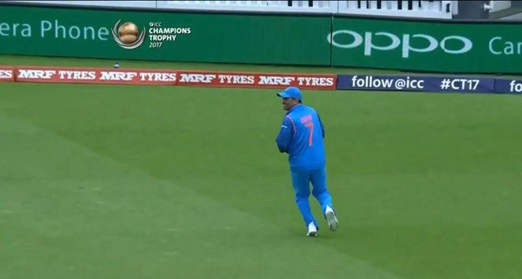 Incidentally MS Dhoni Was Fielding Without The Gloves A Sight Which Is Not Often Seen On Cricket Field