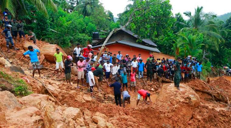 Sri Lanka, Lanka landslide, Lanka mudslide, Lanka flood, lanka flood deaths, Lanka rainfall, Lanka news, latest news, world news, indian express news