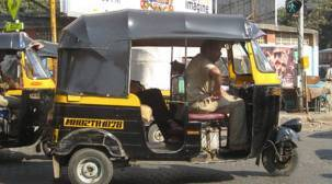 Auto rickshaws stay off roads inThane