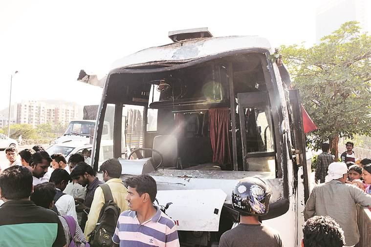 Bus on way to wedding reception overturns in Powai, 1 dead, 14 injured