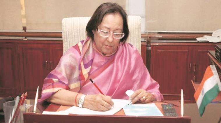 manipur news, najma heptulla news, india news, indian express news