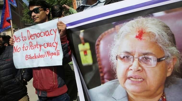 Nepal, Nepal political crisis,Rastriya Prajatantra Party, RPP quits government, Sushila Karki, Kamal Thapa,Prachanda,Prachanda RPP, World news, Indian Express