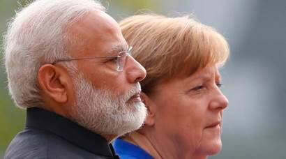 PM Modi meets Merkel to boost bilateral ties, discuss China's OBOR project
