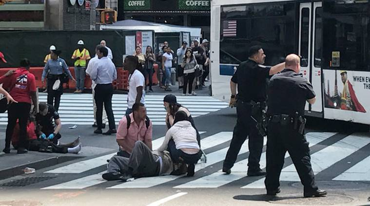 New York, speeding vehicle kills one, Times Square, Times Square accident, New York accident, New York police, World news, Indian Express