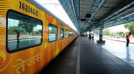 tejas express, train food, irctc, indian express