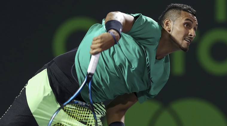 Nick Kyrgios, Nick Kyrgios news, Nick Kyrgios matches, Nicolas Kicker, Nicolas Kicker win, Lyon Open, sports news, sports, tennis news, tennis, Indian Express