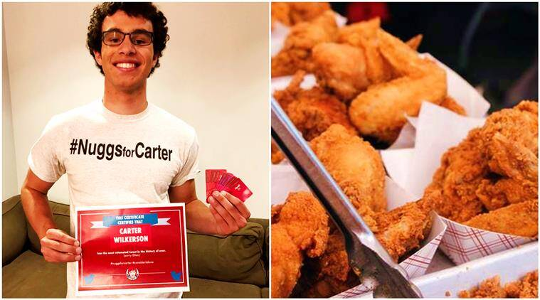 teen plea for chicken nuggets, most retweeted tweet, wendys chicken nuggets, free chicken nuggets twitter, chicken nuggets, wendys chicken nuggets free plea twitter, tweet for chicken nuggets, indian express, indian express news