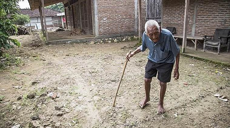 World's oldest man, Indonesia oldest man, Oldest person dies, Saparman Sodimejo, Mbah Ghoto, World news, Indian Express