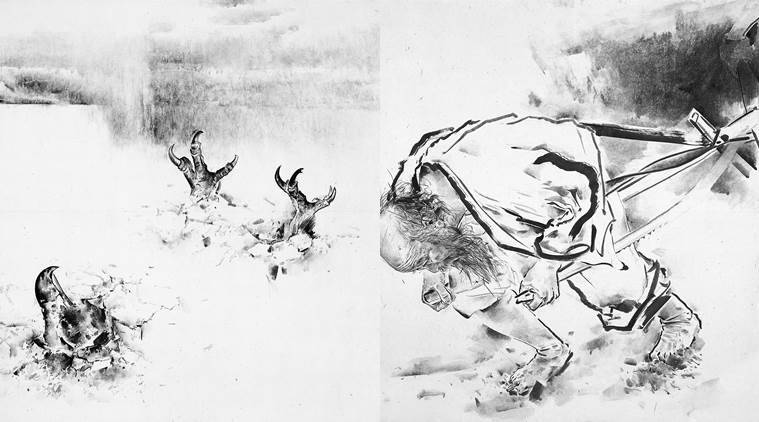 South korean artist kim ho suk korean ink paintings delhis national gallery of