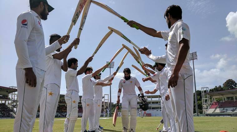 West Indies vs Pakistan, Misbah-ul-Haq, Younis Khan, Pakistan vs West Indies, West Indies vs Pakistan day 4, sports news, sports, cricket news, Cricket, Indian Express