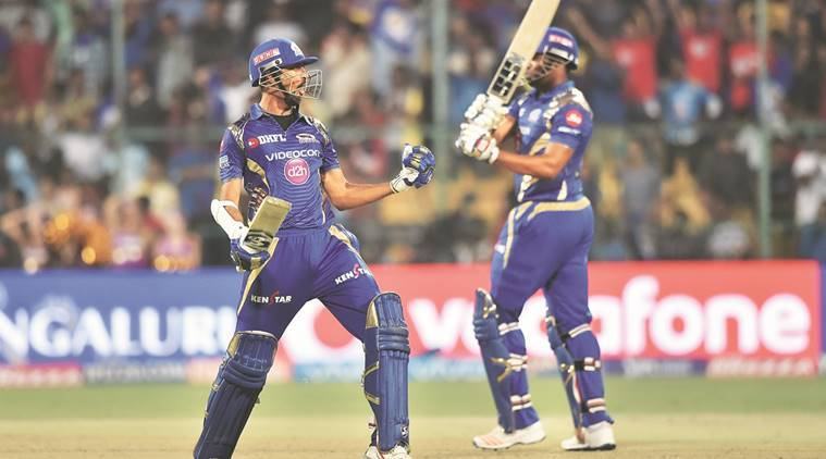 IPL, IPL 2017, KKR, Mumbai Indians, Kolkata Knight Riders, Karn Sharma, Rohit Sharma, Gautam Gambhir, indian express news, sports news