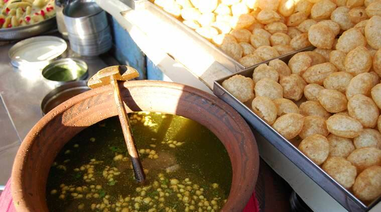 Image result for pani puri indian street images