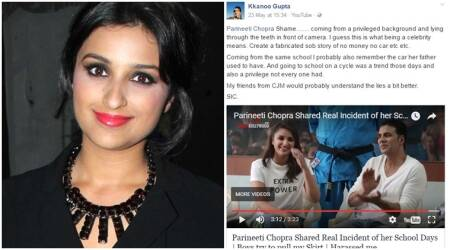 Parineeti Chopra lied about being poor while growing up? Actor says dad had car but she didn't travel in it. Read post here