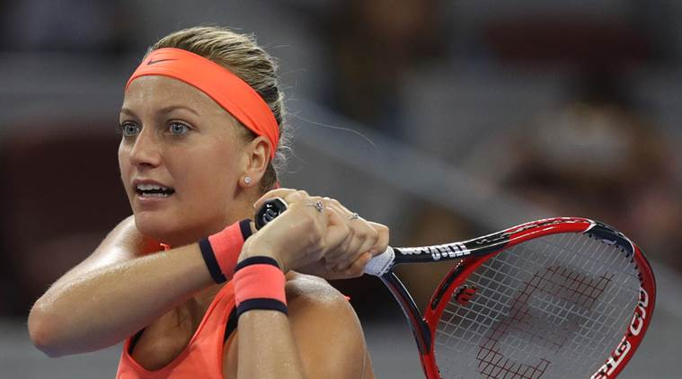 Petra Kvitova returns to practice after stabbing incident