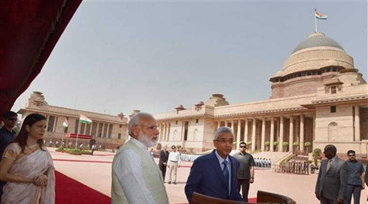 India, Mauritius, Mauritian PM Pravind Kumar Jugnauth, Indian PM Narendra Modi, Narendra Modi, PM Modi, PM Narendra Modi, India Mauritius Agreement, Indian Express, Indian Express News