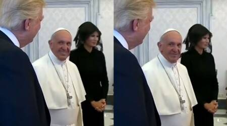 WATCH: This video of Pope Francis exchanging looks with Donald Trump is going viral, watch it to know why