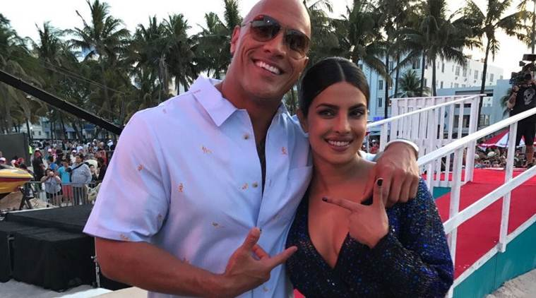 Watch: Priyanka Chopra gets a surprise kiss from Dwayne Johnson, her reaction is priceless