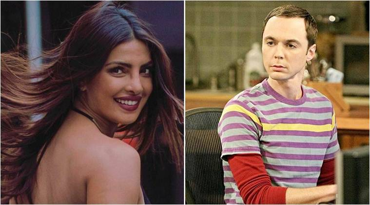 Image result for Actress Priyanka Chopra talks with Jim Parsons for a new film