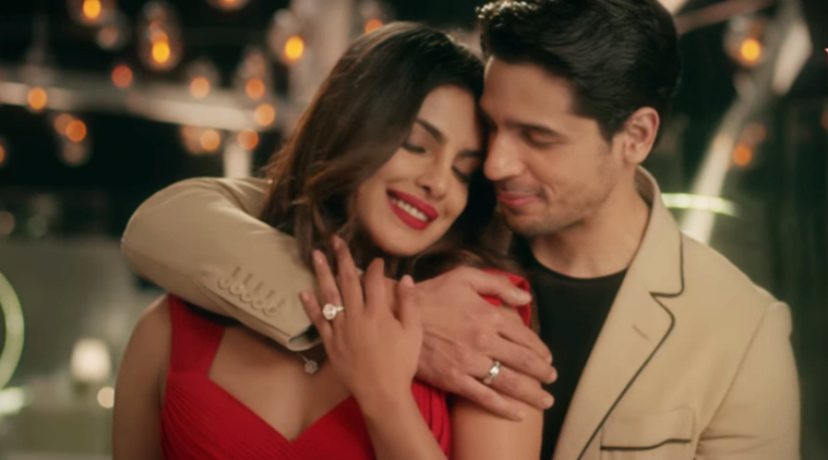 sidharth malhotra puts a ring on priyanka chopras finger
