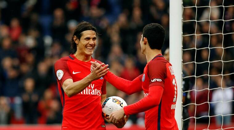 psg, ligue 1, edinson cavani, cavani, paris st germain, psg ligue 1, ligue table, monaco, football news, sports news, indian express
