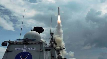 BrahMos missile successfully test fired at a sea-based target from a Sukhoi fighterjet